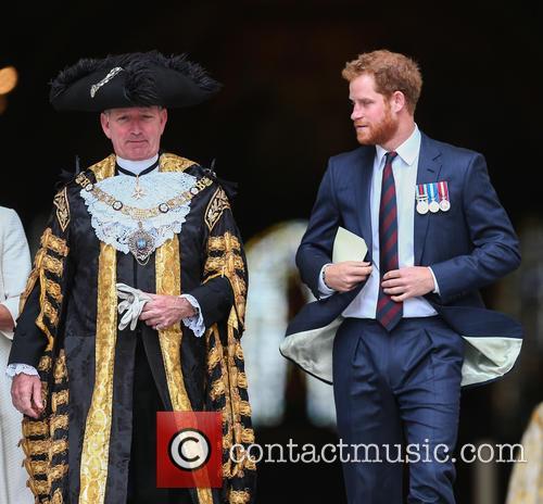 Prince Harry and Lord Mayor Alan Yarrow 7