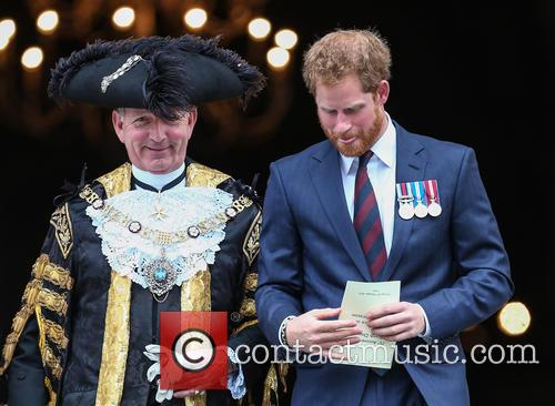 Prince Harry and Lord Mayor Alan Yarrow 3