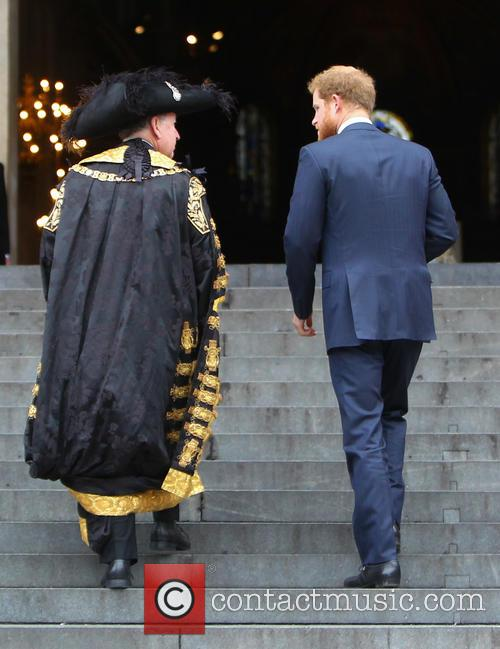 Prince Harry and Lord Mayor Alan Yarrow 9