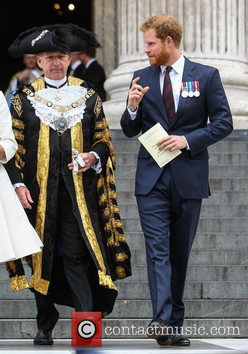 Prince Harry and Lord Mayor Alan Yarrow 10