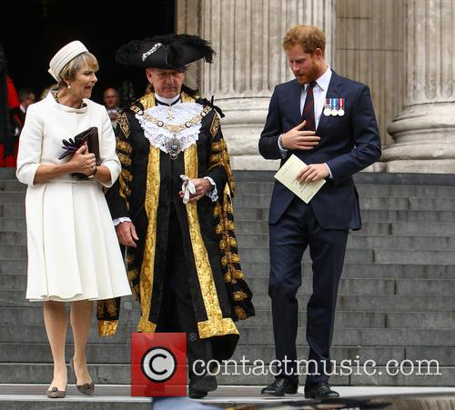 Prince Harry and Lord Mayor Alan Yarrow 11