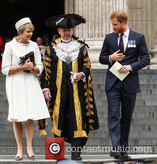 Prince Harry and Lord Mayor Alan Yarrow 1