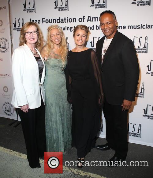 Ann Meier Baker, Wendy Oxenhorn, Guest and Ray Parker Jr. 1