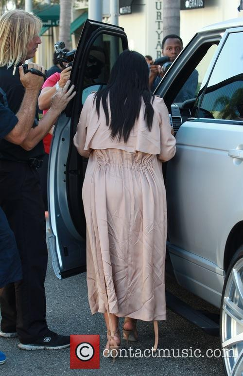 Pregnant Kim Kardashian leaving La Scala restaurant