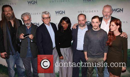 Cast, L To R, Ryan Hurst, Peter Mattei, Peter Tolan, Christina Jackson, Paul Giamatti, Kyle Gallner, David Morse and Gillian Alexy 2