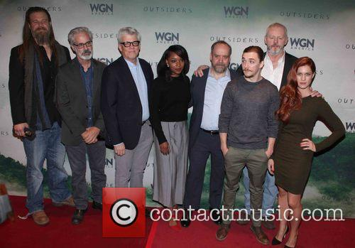 Cast, L To R, Ryan Hurst, Peter Mattei, Peter Tolan, Christina Jackson, Paul Giamatti, Kyle Gallner, David Morse and Gillian Alexy 1