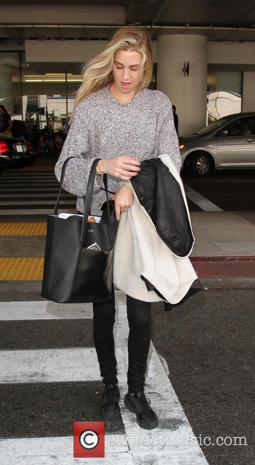 Whitney Port arrives at Los Angeles International Airport...