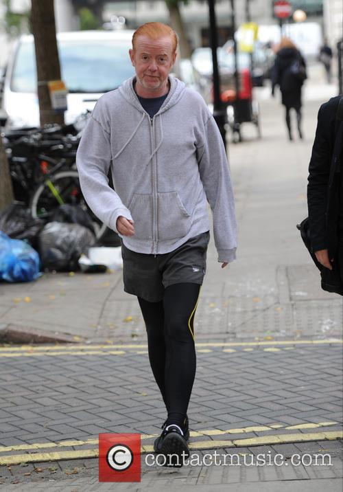 Chris Evans leaving the BBC Radio 2 studios
