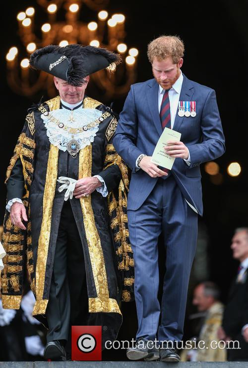 Prince Harry and Lord Mayor Alan Yarrow 5