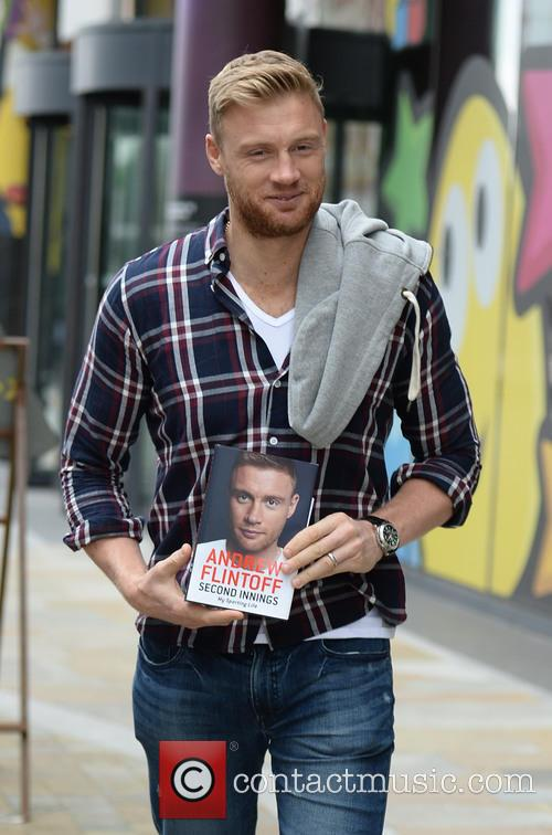 Andrew Flintoff book promotion