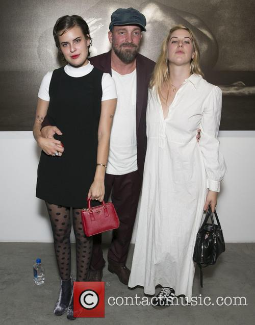 Tallulah Willis, Brian Bowen Smith and Scout Willis 2