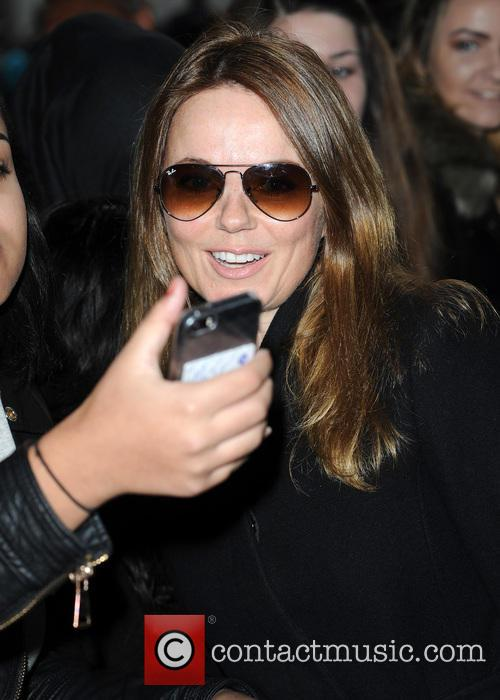 Geri Halliwell arrives at The BBC