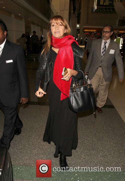 Jane Seymour departs from Los Angeles International Airport...