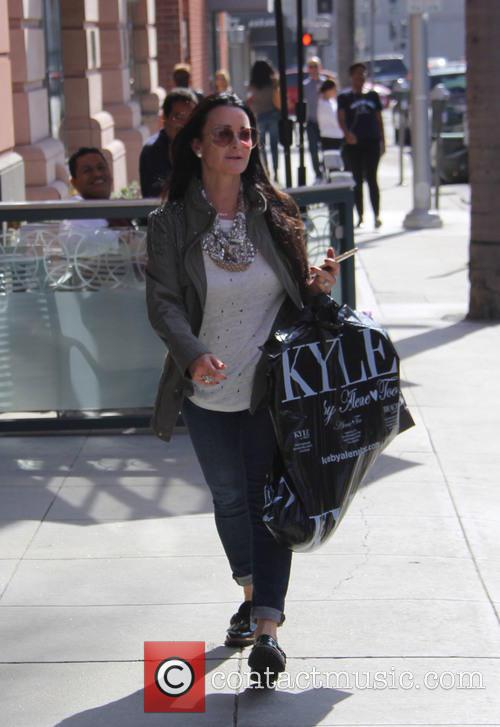 Kyle Richards out shopping on N Bedford Drive...
