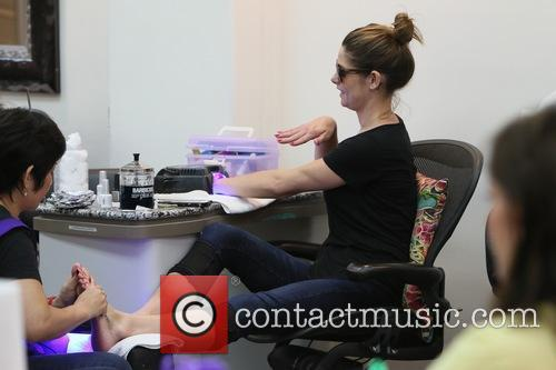 Ashley Greene gets pampered at Beverly Hills Nail...