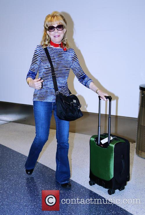 Barbara Eden departs from Los Angeles International Airport...