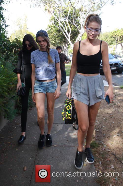 Cara Delevingne, Kendall Jenner and Gigi Hadid 8