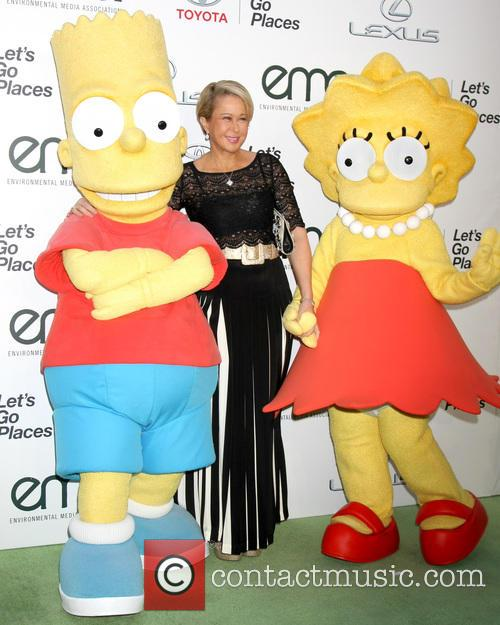 Bart Simpson Charachter, Yeardley Smith and Lisa Simpson Charachter 1