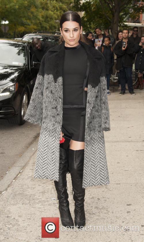 Lea Michele Arrives to EW Fest 2015
