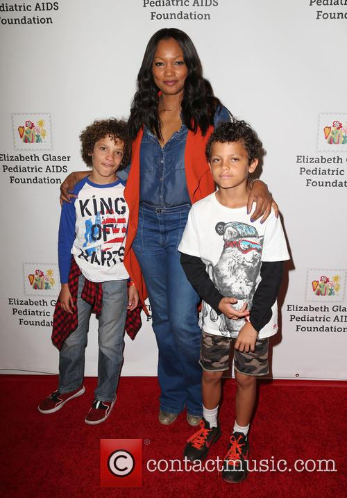 Garcelle Beauvais, Jaid Thomas Nilon and Jax Joseph Nilon 2