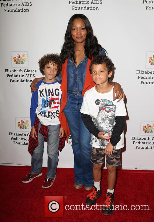 Garcelle Beauvais, Jaid Thomas Nilon and Jax Joseph Nilon 3