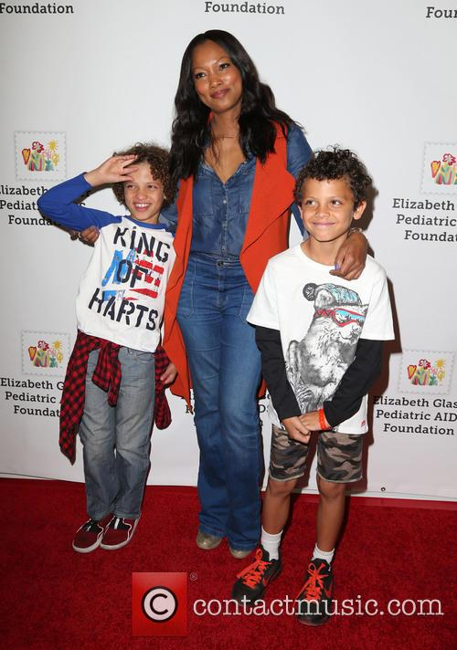 Garcelle Beauvais, Jaid Thomas Nilon and Jax Joseph Nilon 1