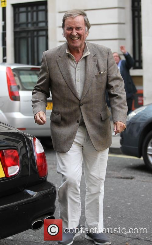 Terry Wogan appears in high spirits after his...