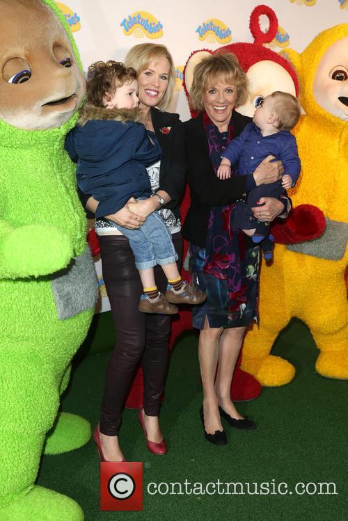 Esther Rantzen, Daughter Rebecca Wilcox, Grandchildren Benji and Teddy 1