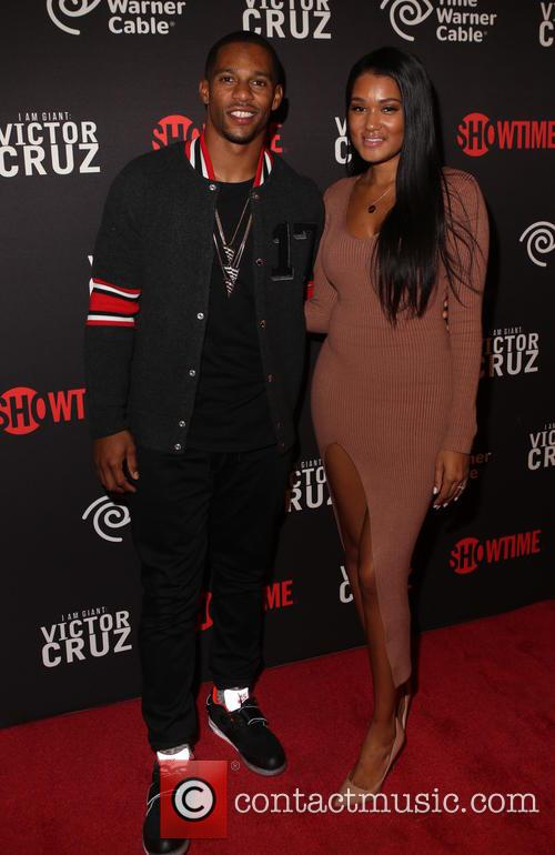 Victor Cruz and Elaina Watley 2