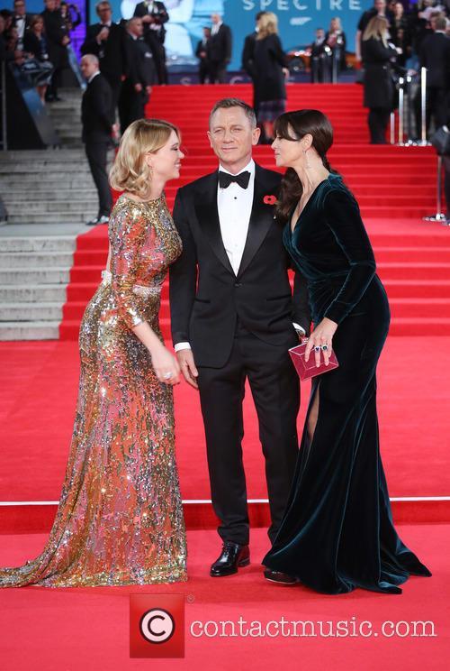 Léa Seydoux, Daniel Craig and Monica Bellucci 3