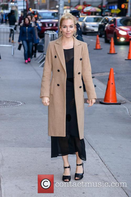 Sienna Miller visits 'The Late Show with Stephen...