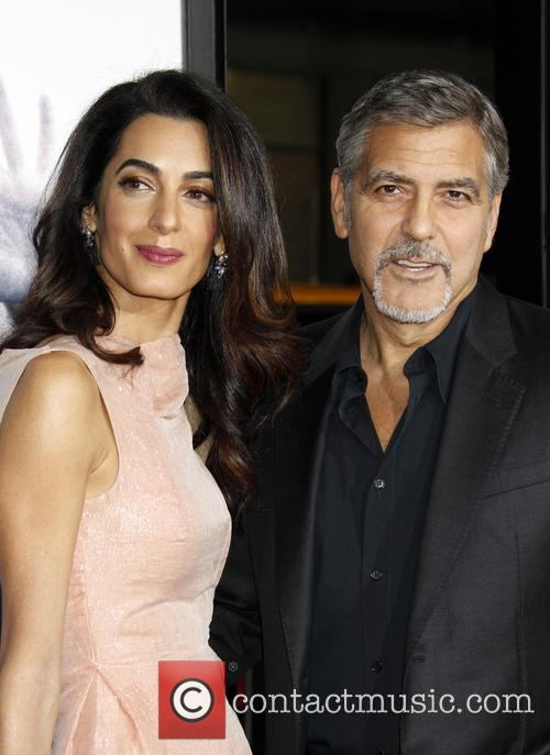 Amal Alamuddin, George Clooney and Amal Clooney 4