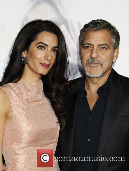 Amal Alamuddin, George Clooney and Amal Clooney 5