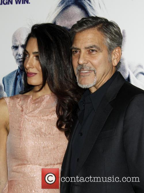 Amal Alamuddin, George Clooney and Amal Clooney 1