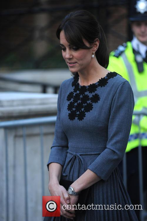 The Duchess Of Cambridge leaves Town Hall
