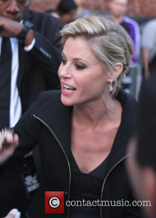 Julie Bowen greets fans as she leaves the...