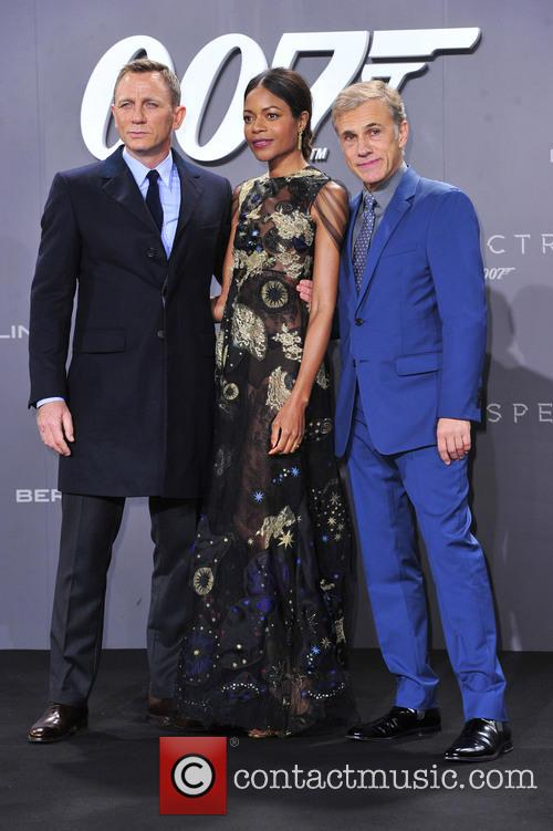 Daniel Craig, Naomie Harris and Christoph Waltz 2