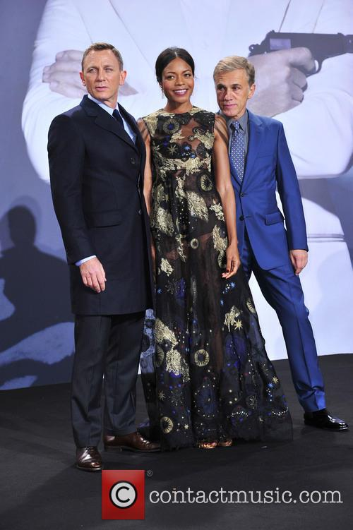 Daniel Craig, Naomie Harris and Christoph Waltz 3