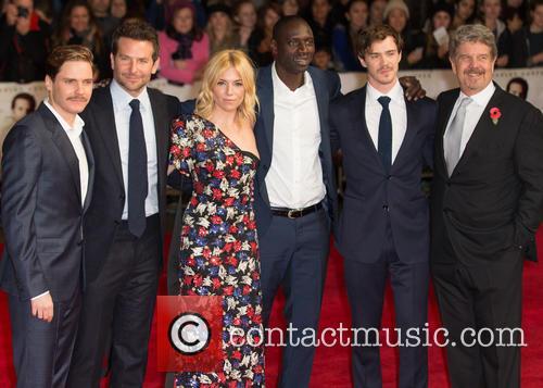 John Wells, Sam Keeley, Omar Sy, Sienna Miller, Bradley Cooper and Daniel Bruhl 1