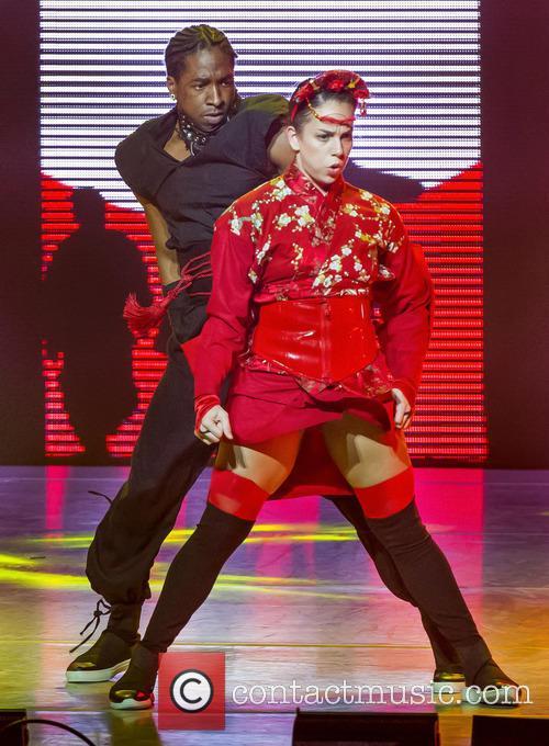 "Team Stage's Gaby Diaz Who Won The Title Of America's Favorite Dancer In Season 12 Performs With Team Street Eddie ""neptune"" Eskridge 2"