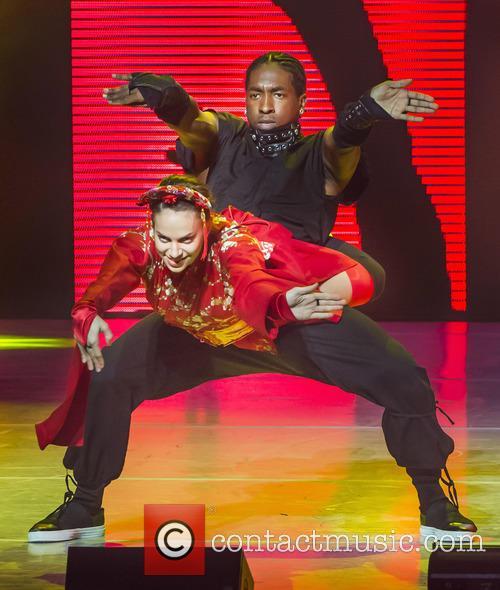 "Team Stage's Gaby Diaz Who Won The Title Of America's Favorite Dancer In Season 12 Performs With Team Street Eddie ""neptune"" Eskridge 5"