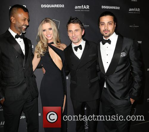 Ronnie Madra, Elle Evans, Matthew Bellamy and Guest 1