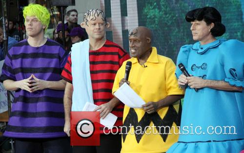 Willie Geist, Carson Daly, Al Roker and Matt Lauer