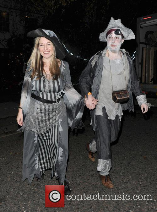 Celebrities attend the annual Jonathan Ross Halloween Party,...