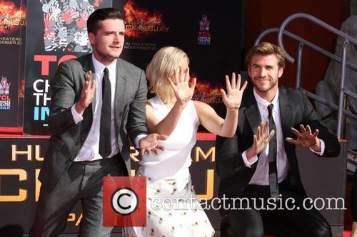 Josh Hutcherson, Jennifer Lawrence and Liam Hemsworth 6