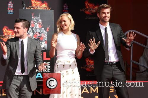Josh Hutcherson, Jennifer Lawrence and Liam Hemsworth 11