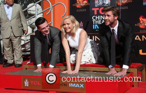Josh Hutcherson, Jennifer Lawrence and Liam Hemsworth 3