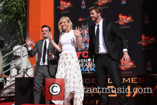 Josh Hutcherson, Jennifer Lawrence and Liam Hemsworth 11