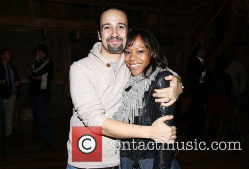 Lin-manuel Miranda and Nikki M. James 1
