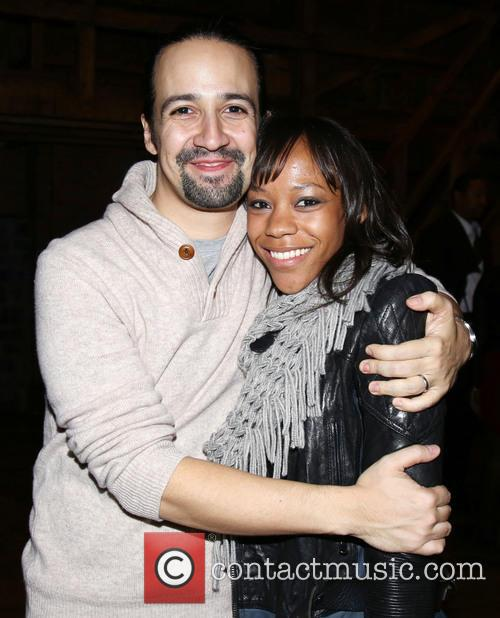Lin-manuel Miranda and Nikki M. James 2